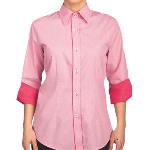 camisa-mujer-combinada-manga-francesa
