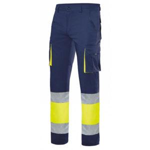 pantalon-bicolor-alta-visibilidad-azul