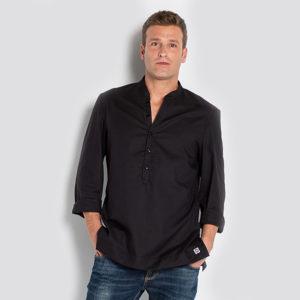 camisa-negra-hosteleria-caballero