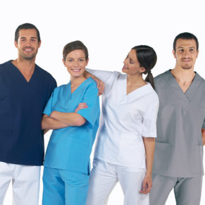Camisolas-granada-azules-sanitario-hombre-mujer